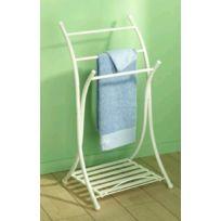 ALLIBERT - porte-serviettes pliable blanc - m1848011