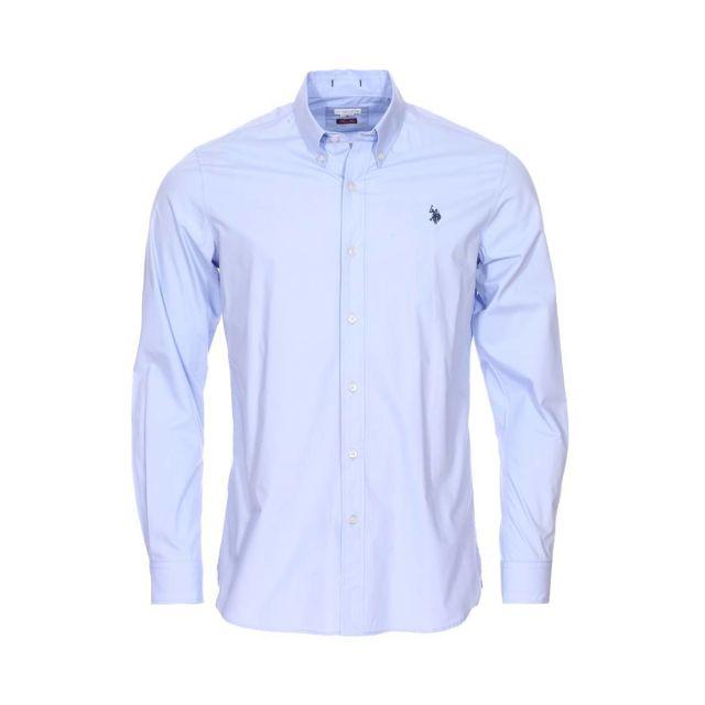 Uspoloassn Chemise Cintree U S Polo Assn Jaxon En Coton Bleu