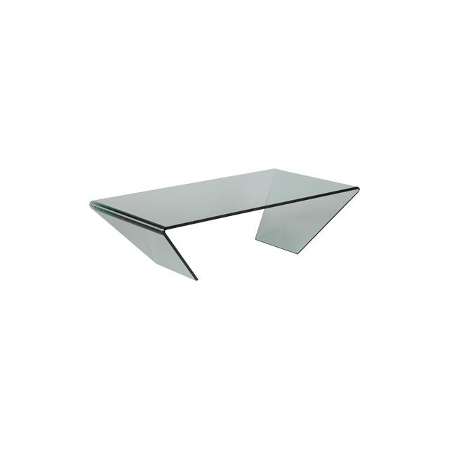 Table basse rectangulaire 120x65x36cm Glass
