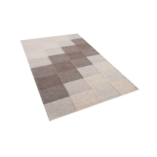 Tapis marron en coton et laine 80 x 150 cm NIZIP