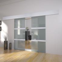 Vidaxl - Double porte coulissante en verre