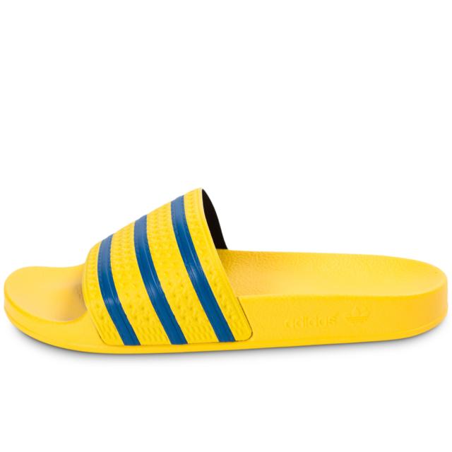 best service 41f43 4fa1b Adidas originals - adidas Originals Adilette Jaune Et Bleue - Sandales