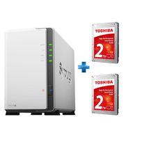 SYNOLOGY - DS216j + 2 Disques dur interne 2TB HDWD120UZSVA