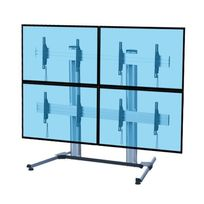 Kimex - Support sur pied videowall pour 4 écrans Tv Lcd Led 45 -55