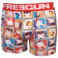 Freegun - Sous vêtement boxer Pop rge/blc boxer Blanc 59966