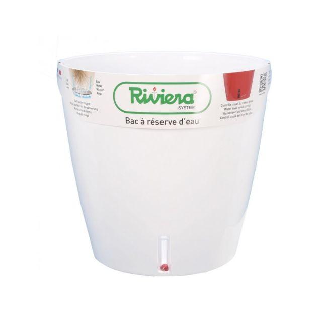 Riviera & Bar Pot Eva rond diametre 31cm blanc - Riviera