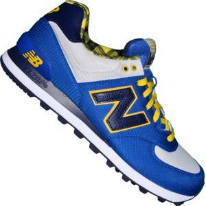 basket new balance bleu et jaune