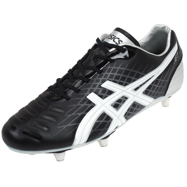 Chaussures football vissées Jet foot rugby noir Noir 35483
