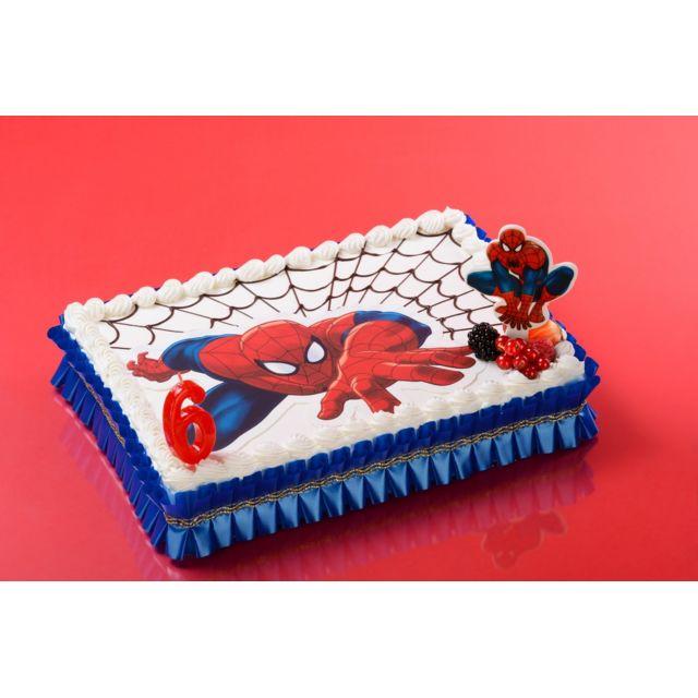 Sans Forme Azyme Spiderman 26x16cm Décoration Gâteau Enfant