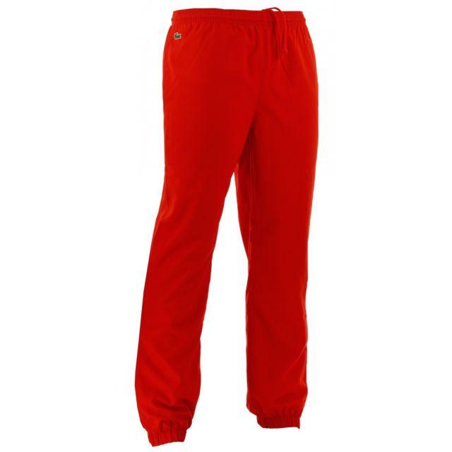 4a0e37c37c Lacoste - Pantalon de survêtement Rouge Xh120T-00CAD - pas cher Achat / Vente  Survêtement homme - RueDuCommerce