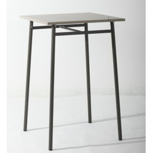 Hesp ride table haute d 39 ext rieur cayey taupe pas cher for Table exterieur carrefour