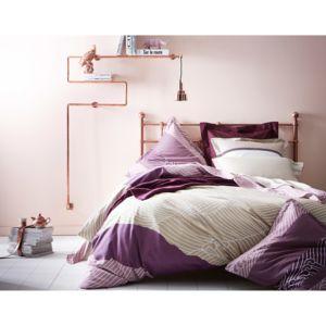 essix housse de couette r versible satin coton motif g om trique zahara sangria. Black Bedroom Furniture Sets. Home Design Ideas