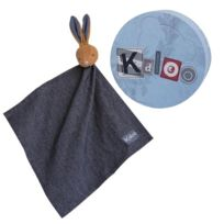 Kaloo - Blue Denim : Doudou mouchoir lapinou denim