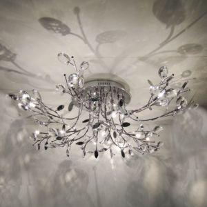kosilum lustre plafonnier chrom cristal aiken t l commande 85cm x 35cm x 85cm pas cher. Black Bedroom Furniture Sets. Home Design Ideas