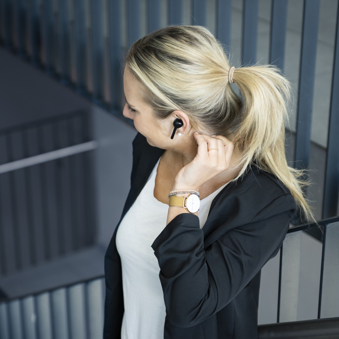 """Ecouteurs bluetooth intra-auriculaire """"Style"""" - Noir"""