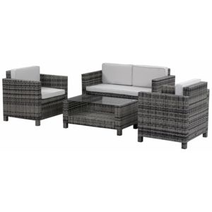 soldes habitat et jardin salon de jardin r sine tress e ottawa florida gris nc pas cher. Black Bedroom Furniture Sets. Home Design Ideas