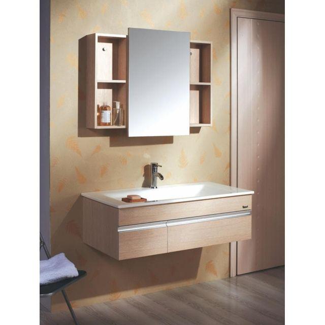 Lysita - Meuble salle de bain contemporain 100x50
