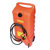 Cemo - Jerrican carburant plastique 53 L sur roulettes avec pompe manuelle