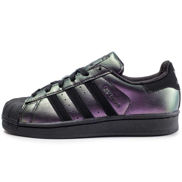 Adidas originals Superstar Junior Noire Et Iridescent