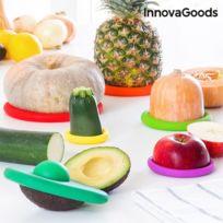- Lot de 6 couvercles colorés pour aliments - Conservation nourriture hermetique