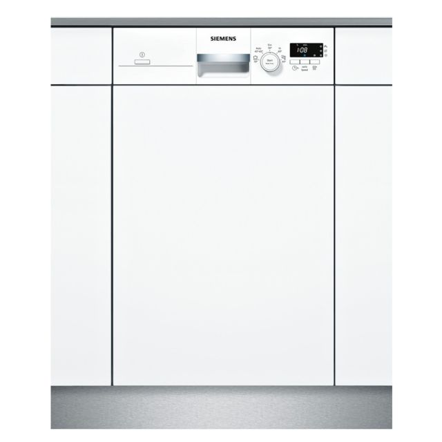SIEMENS lave-vaisselle 45cm 9c 46db a+ intégrable avec bandeau blanc - sr515w03ce