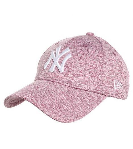 437929eee62d28 New Era Cap - Casquette Femme New Era Jersey Fleck New York Yankees Rose  Chiné 9Forty