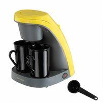 Domoclip - Machine à café jaune 450W + 2 tasses