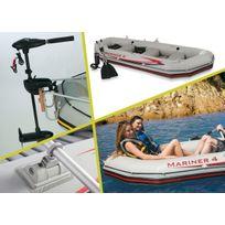 INTEX - Kit bateau 4 places + moteur