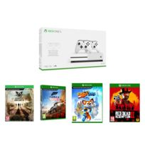 MICROSOFT - Pack Xbox One S 1 TO + 2 Manettes + Super Lucky's Tale - Xbox One + State of Decay 2 - Xbox One + PUBG 1.0 XBOX ONE + Forza Horizon 4 - Jeu Xbox One + RED DEAD REDEMPTION 2 - Xbox One
