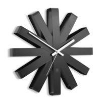 Horloge Murale Design Ribbon Acier Noir