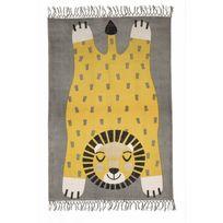 Nattiot - Tapis Baba la panthère décoration chambre enfant garçon par - Couleur - Jaune, Taille - 100 x 140 cm