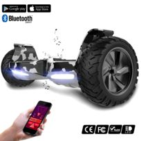 COOL AND FUN - COOL&FUN Hoverboard Bluetooth Tout terrain, gyropode 8.5 pouces Model HUMMER-BOARD Vert militaire