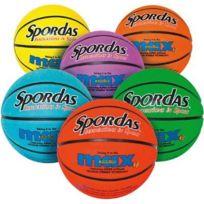 Spordas - ballons basket ball taille 5 22cm coloris assortis - sachet de 6