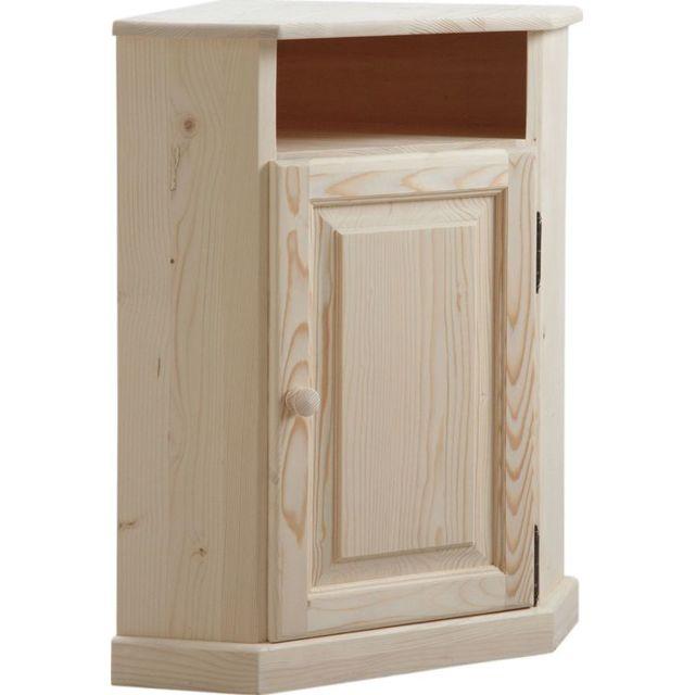 AUBRY GASPARD Petit meuble d'angle en bois brut