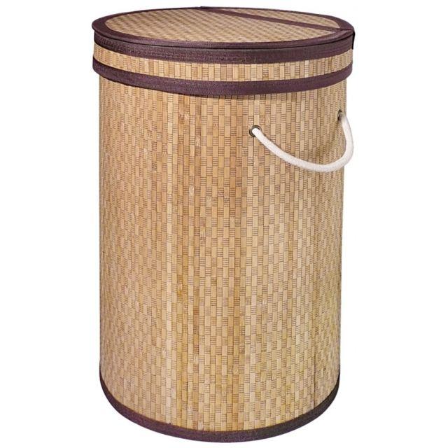Planetebain Panier à linge en bambou couleur naturel
