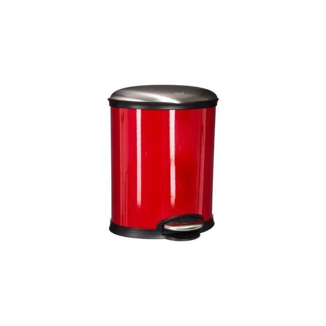 Paris Prix Poubelle Ovale 6L Rouge