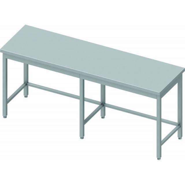 Materiel Chr Pro Table de Travail Inox Centrale - Profondeur 700 - Stalgast - inox 2000x700 700