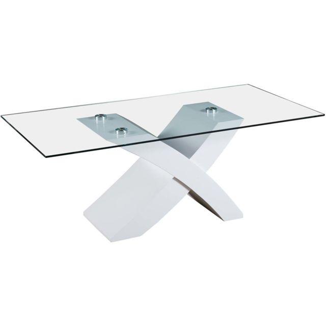HABITAT ET JARDIN Table basse rectangulaire Tina en MDF laqué - Blanc