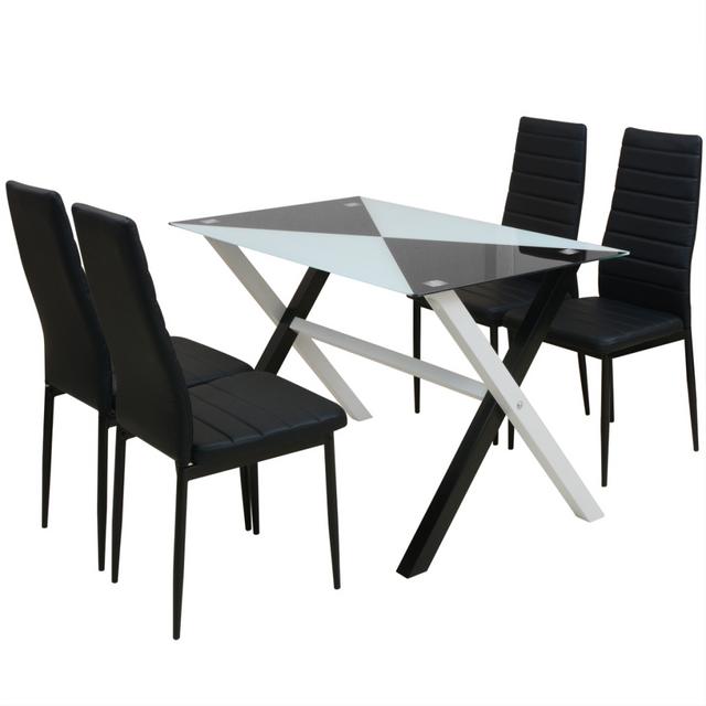 Vidaxl Ensemble table et chaises de salle à manger 5 pcs en simili cuir