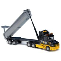 Emek - Em22523 - Scania T-cup 3AXES/2AXES 1:25, Remorque Auge Ronde Cat-truck