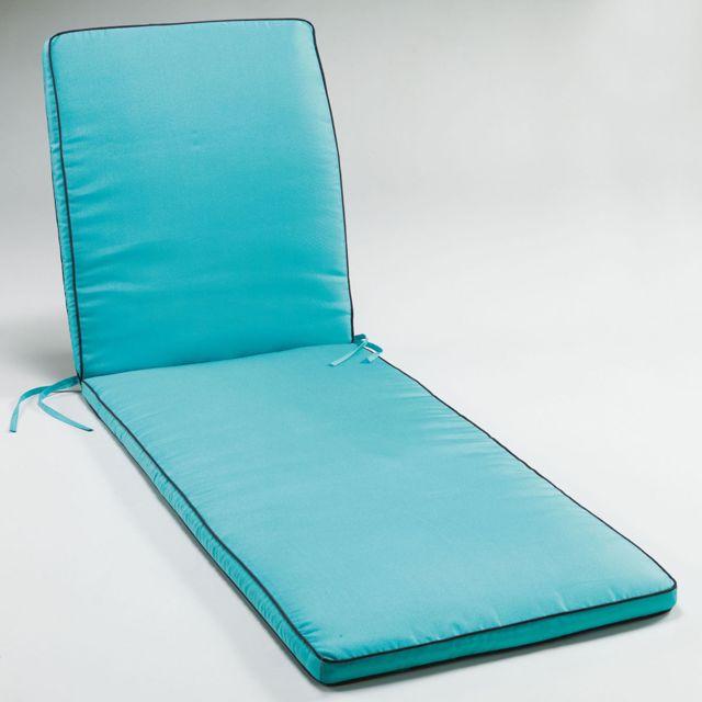 marque generique coussin bain de soleil 185x55x4cm bicolore garden aqua anthracite pas cher. Black Bedroom Furniture Sets. Home Design Ideas