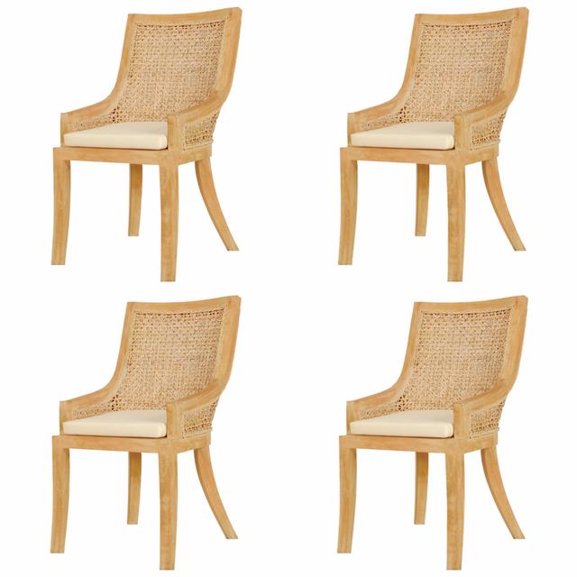 Vidaxl chaises de salle manger 4 pcs rotin pas cher Chaise de salle a manger en rotin pas cher