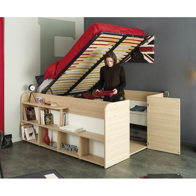 Last Meubles - Lit studio Loft Blanc - 140cm x 200cm