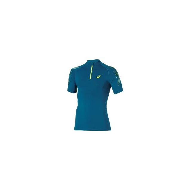 790c7574 Asics - Tee-shirt Inner Muscle 1/2 Zip Top manches courtes ...