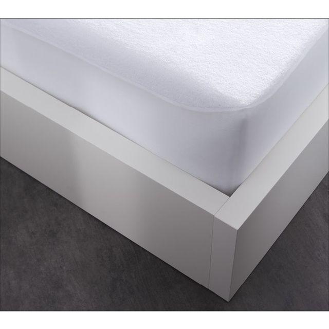 today prot ge matelas al se en coton by night 90 x 190 cm blanc pas cher achat vente. Black Bedroom Furniture Sets. Home Design Ideas