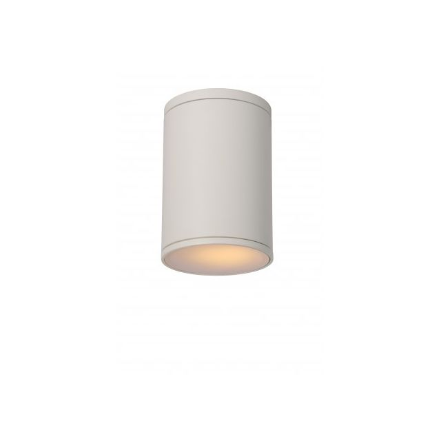 Lucide Spot Plafond Extérieur Tubix - D10,8 cm - Ip54 - Blanc
