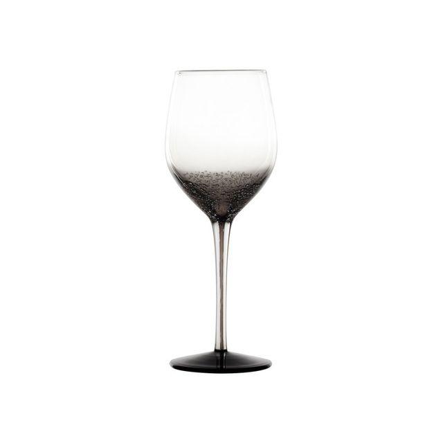 Novastyl Verre à eau soufflé bouche 40 cl - Coffret de 2 pièces Oxygen - Gris