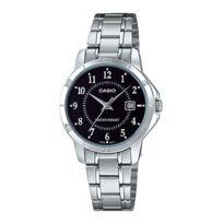 Casio - Ltpv004d-1B Montre Femme Bracelet Acier.Verre minéral.Dateur.Garantie 2 ans.Diamètre du cadran 4 cm