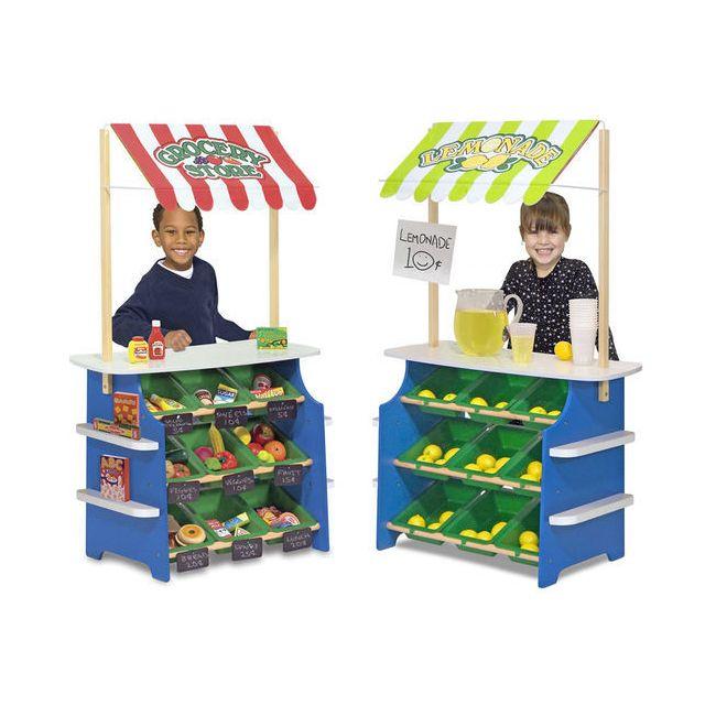 Melissa And Doug Stand marchand enfant : Épicerie et kiosque de limonade - 4070