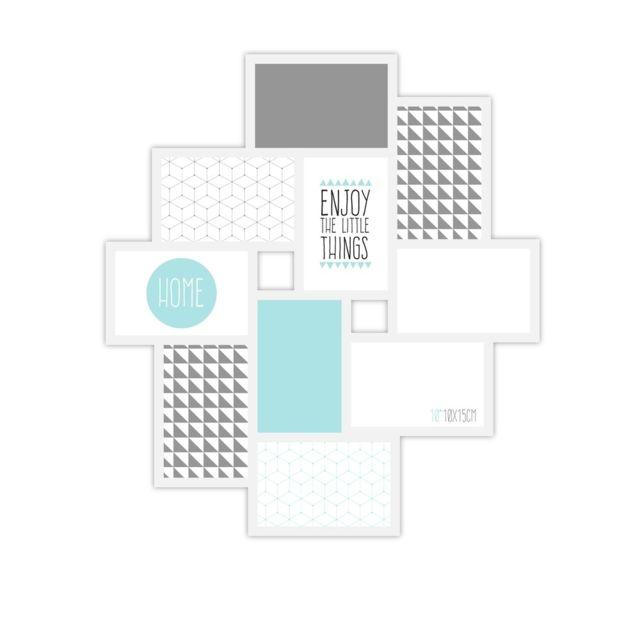 Ceanothe Cadre photo multivues Détroit blanc 10 photos 10x15 cm